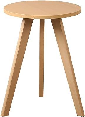 木製の三角表、多機能ダブルレイヤーコーヒーテーブルリビングルームコーナーコーヒーショップ飲料ショップ読書表 (Color : B, Size : 60*55CM)