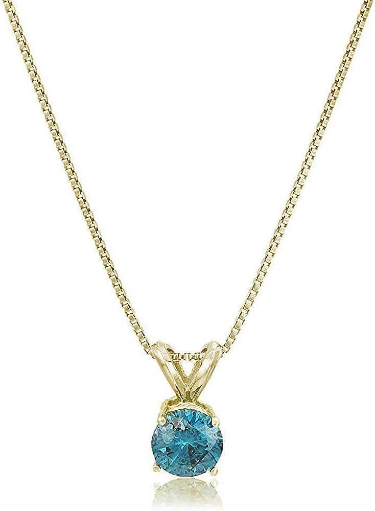 Vir Jewels 1 Super sale 5 to 2 cttw Diamond Blue Whit Solitaire 14K Cheap bargain Pendant