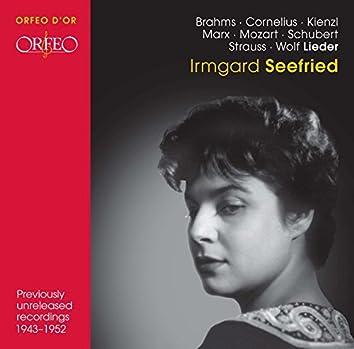 Brahms, Cornelius, Kienzl, Marx, Mozart, Schubert, Strauss & Wolf: Lieder