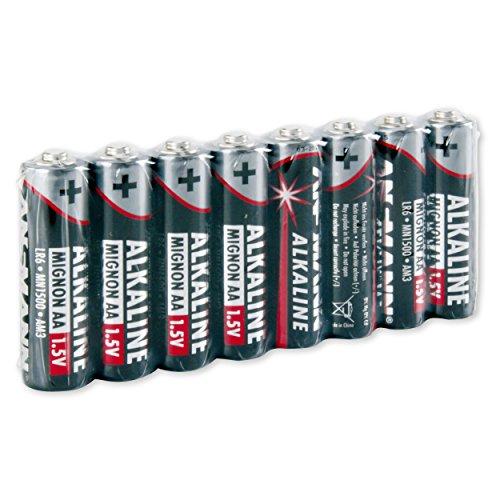 ANSMANN Red Alkaline Batterie Mignon AA LR6 Longlife Alkalibatterie (8er Shrink)