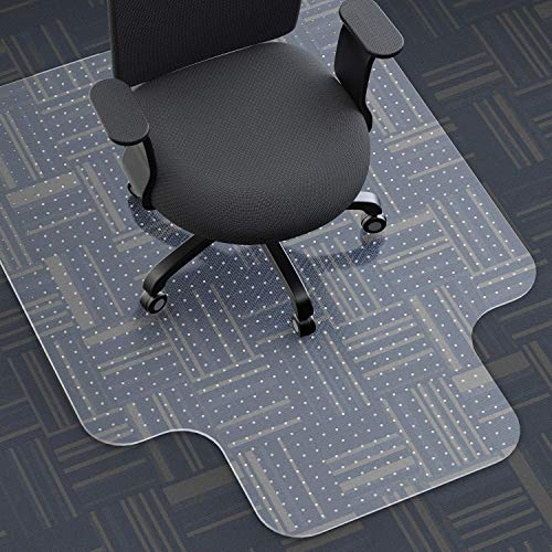 ARTOFUL Office Chair Mats for Carpeted Floors,35×47×0.1 inches,Tough and Thick Office Chair Mat...