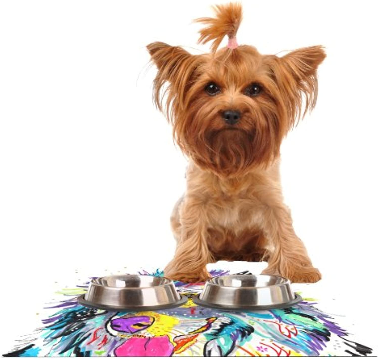 Kess InHouse Rebecca Fischer Dally  Feeding Mat for Pet Bowl, 24 by 15Inch