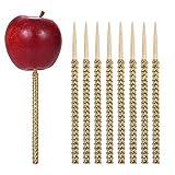 24ct Rhinestone Bling Bamboo Candy Apple Sticks 6 inch for Cake pop Chocolate Caramel Apple Skewers...