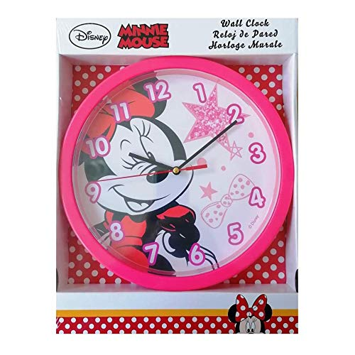 Disney wanduhr Minnie Girls 25 cm rosa/weiß