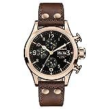 Ingersoll Orologio Cronografo Automatico Uomo con Cinturino in Pelle I02201
