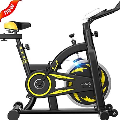 Bicicleta Estática para Ciclismo, Home Mute Belt Drive Cardio Entrenamiento Bicicleta Estática Vertical, Pantalla LCD Velocidad, Distancia, Tiempo, Calorías + Pulso 110 * 51 * 104cm