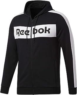 Reebok mens TE Linear Logo Full Zip Hoodie Sport Jacket