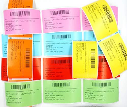 BETCKEY Compatible Etiqueta de Código de Barras de Color, Reemplazo para hermano DK-11209, 62mm x 29mm, para Impresoras de Etiquetas Brother QL, [1 Rollo/800 Labels, Rosa]
