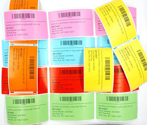 """BETCKEY - Compatible DYMO 30256 (2-5/16"""" x 4"""") Replacement Shipping Labels - Compatible with Rollo, DYMO Labelwriter 450, 4XL & Zebra Desktop Printers[300 Labels, Yellow] Photo #3"""