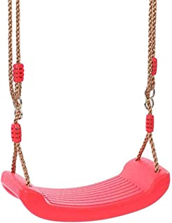 ZH Plastic Swing Seat with Adjustable Rope for Kids Obstacle Course-Playground Swing Set Accessories Outdoor Play Equipmen...