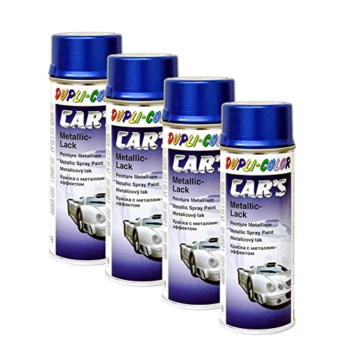 DUPLI_bundle 4X Dupli-Color Cars Metallic Lack Spray azurblau 400ml 706837