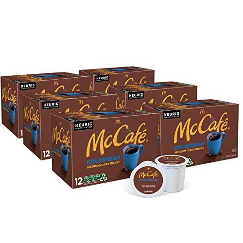 McCafé Colombian, Keurig Single Serve K-Cup Pods, Medium-Dark Roast Coffee Pods, 72 Count
