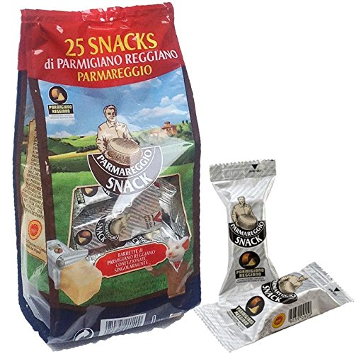 Parmigiano Reggiano DOP 25 kleine troncs vakuumverpackte von 20 gr l'einer für eine Gesamtzahl von 500 gr.