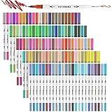 Hethrone Rotuladores Punta Pincel 120 Color Rotuladores Doble Punta Acuarelables Profesionales, Dual...