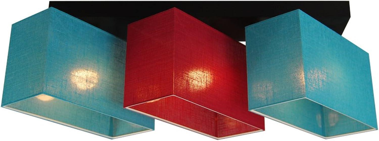 Deckenlampe - HausLeuchten JLS31TUROD - Deckenleuchte, Leuchte, Lampe, 3-flammig, Massivholz