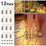 Opard Flaschenlicht 12x 20 LED Flaschen-Licht Lichterkette flaschenlichterkette korken LED Nacht...