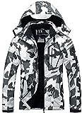 Women's Waterproof Ski Jacket Warm Winter Snow Coat Hooded Raincoat
