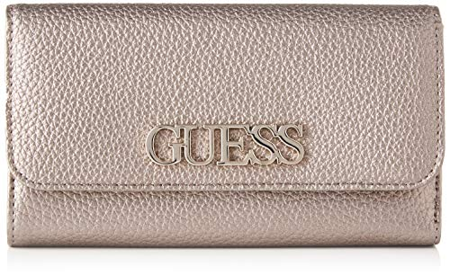GUESS Uptown Chic SLG Pocket Trifold, Cartera. para Mujer, Gris (Pewter), 1x11x19 Centimeters (W x H x L)