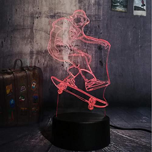 Nachtlicht Sport Skateboard Boy 3D Led Nachtlicht Wohnkultur Weihnachtsgeschenk