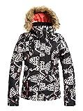 Roxy Jet Ski - Chaqueta Para Nieve Para Chicas Chaqueta Para Nieve, Mujer, true black impressions, L