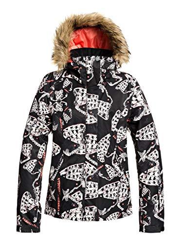 Roxy Damen Jet Ski-Schneejacke für Frauen, True Black Impressions, S