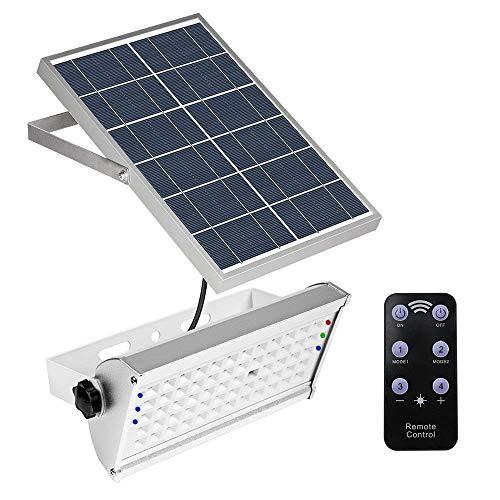 65LED 1500LM Solar Motion Sensor lumière lumières de sécurité IP65 imperméable à l'eau 2 modes Super Bright en acier inoxydable Solar Powered Lights pour Billboard Yard Garden Gate Wall