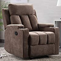 ANJ HOME Recliner Chair with 2 Cup Holders