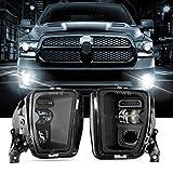 Auxbeam LED Fog Lights Replacement for Dodge Ram 1500 2013 2014 2015 2016 2017 2018, Bumper Driving LED Fog Lamps for Ram 2013-2018, w/ Adjustable Light Source, 2 Pcs Black