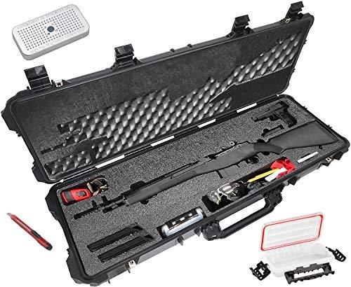 Case Club Springfield M1A SOCOM 16, M1A Scout Squad, Ruger 10/22, & Mini-14 Pre-Cut Waterproof Rifle Case with Silica Gel (Gen 2)