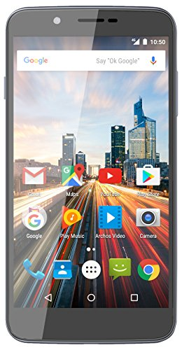 "Archos Helium 55 SIM doble 4G 16GB Gris - Smartphone (14 cm (5.5""), 16 GB, 8 MP, Android, 6.0, Gris)"