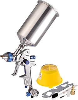 Dynastus 1 Quart HVLP Air Spray Gun Auto Car Detail Paint Sprayer, 2.5mm Nozzle, with Filter and Air Regulator