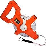 OCM Open Reel Fiberglass Tape Measure Inch Metric Scale, Impact Resistant ABS -100 Feet, 30 Meter