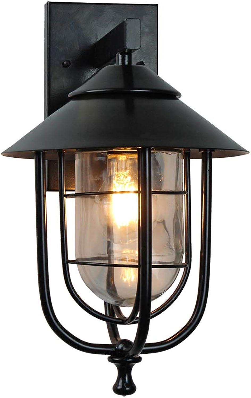 ZQH Draussen Wandleuchten, europisch Wasserdicht Wandlampe Kreativ Vogelkfig Auen Wandlaternen E27 Villa Gartenlampe für den Eingang Park Hof Nacht An der Wand montiert Beleuchtung,H37.5cm