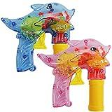 com-four 2X Seifenblasen-Pistole im Deflin-Design - Seifenblasenmaschine für Kinder -...