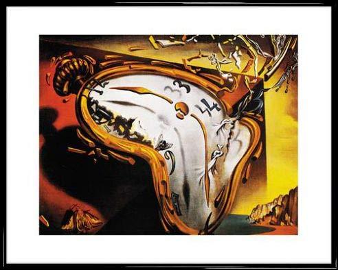 1art1 Salvador Dali Poster Reproduction et Cadre (Plastique) - Les Montres Molles (50 x 40cm)