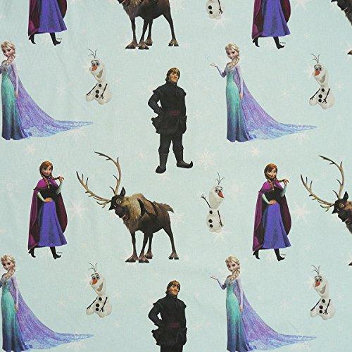 Disney Die Eiskönigin Frozen mint grün Elch Gardinenstoff Stoff Dekostoff