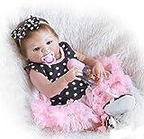 ZIYIUI 20 Pulgadas 50cm Realista Reborn Bebé Muñecas bebé Reborn niña Cuerpo Silicona Renacer Recién Nacido Hecho a Mano Dormido Niña Regalo de cumpleaños Juguetes para Mayores de 3 años