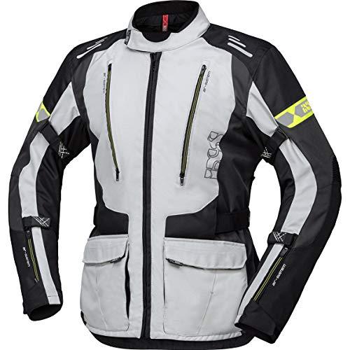 IXS Motorradjacke mit Protektoren Motorrad Jacke Lorin-ST Textiljacke grau/schwarz-Neongelb XL, Herren, Tourer, Ganzjährig, Polyester