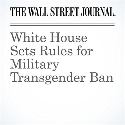White House Sets Rules for Military Transgender Ban copertina