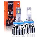 Wattstar H11 Kit De Conversión De Bombillas De Luces Delanteras Led, Faro De 64w Super Bright Hi/Lo Beam Con Ventilador, CSP Chips Ip68 9600Lm 6500k Blanco Paquete De 2