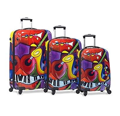 Dejuno 3-Piece Lightweight Hardside Spinner Upright Luggage Set