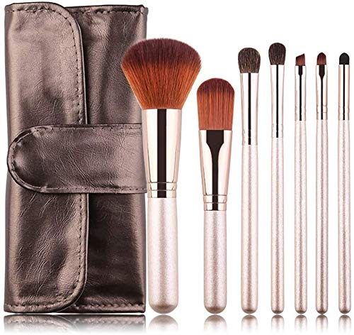 NOSSON Make-up-Pinsel, Bürste 7PCS Make-up-Pinsel-Set Kosmetik Foundation Blending Blush Eyeliner...