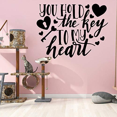 artaslf DIY Art - Adhesivo decorativo para pared, diseño de corazón con texto en PVC, para decoración de la casa, para habitación, impermeable, pegatinas de pared, decoración de accesorios de pintura de pared, 43 x 56 cm