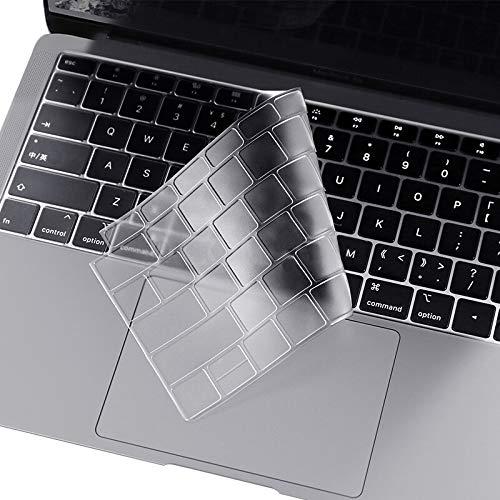 i-Buy Français Clavier Coque de Protection/Couverture AZERTY pour Apple Macbook New Air 13 with Retina Display Touch ID (A1932) - Transparent/Clair