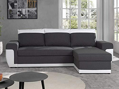 NOTREPP Sofá-Esquina sofá de la Esquina Reversibles e irreversibles Convertible -,Grey