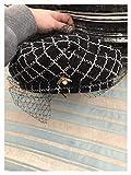 Taoyouzj Sombrero Abeja otoño Plaid Malla señora Boinas Tapa Mujer Pintor restauración Antiguo Sombrero (Color : Pearl Bee, Hat Size : Head Size 57cm)