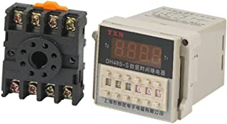 X-DREE AC 220V Digital high performance Timer Programmable Circle essential Double Time Delay well made Relay DH48S-S w Ba...