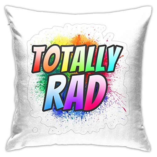 PEARL ANTINO Totally Rad 80's  Modern Decorative Square Pillowcase Cushion Throw Pillow for Sofa Bedroom car Home Decoration