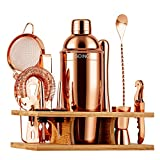 Soing 11-Piece Rose Copper Bartender Kit,Perfect Home Cocktail Shaker Set for Drink...