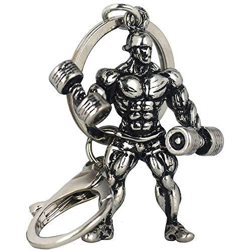 Bodybuilder-Schlüsselanhänger mit Hanteln